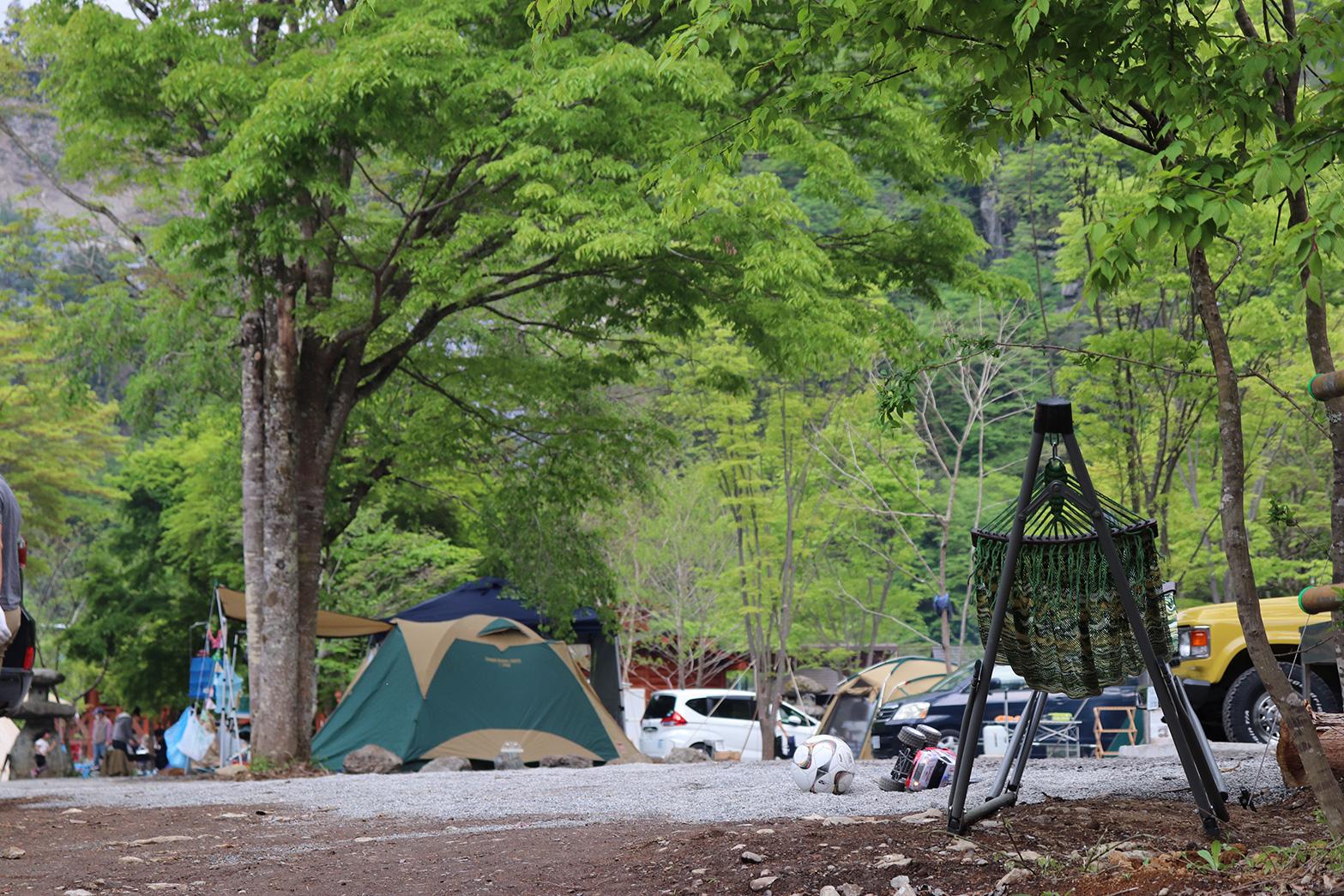初夏のキャンプ場
